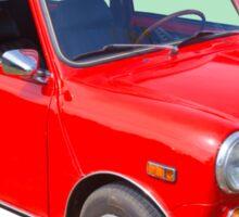 Red Mini Cooper Antique Car Sticker