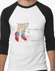 There's no place like...(Wizard of Oz, ruby slippers) Men's Baseball ¾ T-Shirt