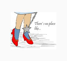 There's no place like...(Wizard of Oz, ruby slippers) Womens Fitted T-Shirt