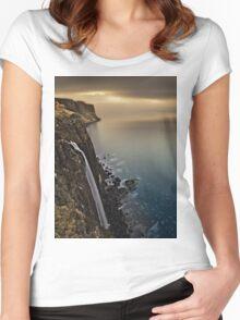 Waterfall Isle of Skye Scotland Women's Fitted Scoop T-Shirt