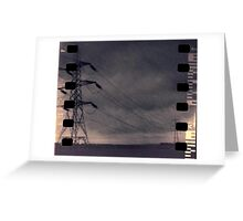 Stormy Pylons Greeting Card