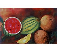 Melones- Oil Painting Photographic Print
