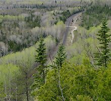 Over look at Kama Mountain - Nipigon bay, Ontario Canada by loralea