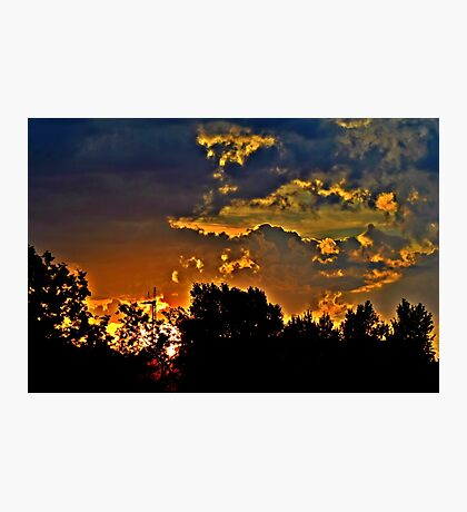 Sunset in Denver Photographic Print