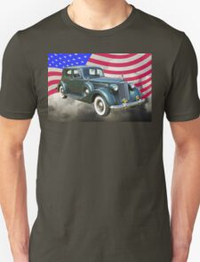 Packard Luxury Car And American Flag T-Shirt