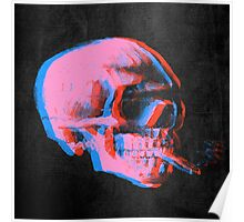 Van Gogh Skull with burning cigarette remixed 2 Poster