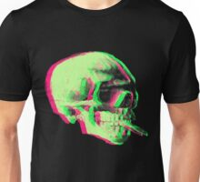 Van Gogh Skull with burning cigarette remixed Unisex T-Shirt
