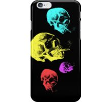 Van Gogh Skull with burning cigarette remixed iPhone Case/Skin