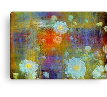 Weathered Dahlias Canvas Print