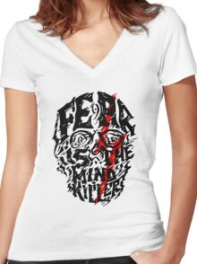 Fear is the Mind Killer Women's Fitted V-Neck T-Shirt