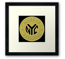 Made In New York Manhattan Framed Print