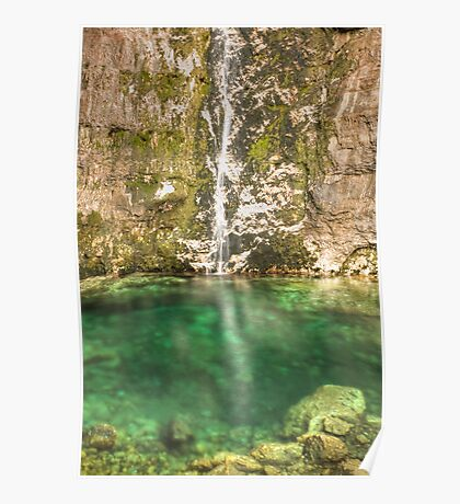 Savica Waterfall, Bohinj, Slovenia. Poster