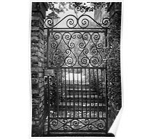 Charleston Wrought Iron Fence Poster