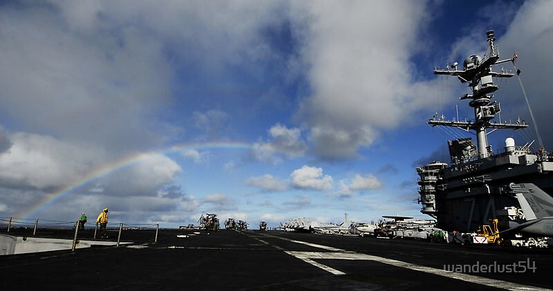 Rainbow Over Deck by wanderlust54