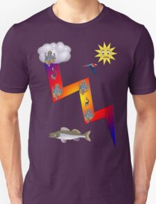 Lightning lemur fish ganesh parrrot cloud sun T-Shirt