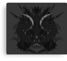 Rorschach Dark Canvas Print