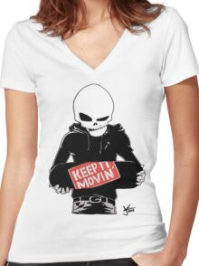 Keep It Movin' Women's Fitted V-Neck T-Shirt