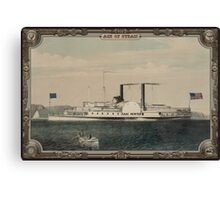 Steamboat on Sea. Age of Steam #013 Canvas Print