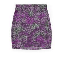Purple Fractal Snakeskin Weave Pencil Skirt