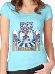 Roller Derby Nouveau: The Massacre of Spring (English) Women's Fitted Scoop T-Shirt