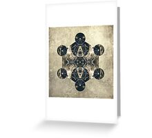 Metatron's Cube Greeting Card