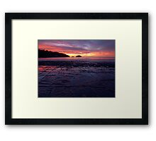 Sunrise over the Tessellated Pavement Framed Print