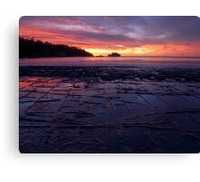 Sunrise over the Tessellated Pavement Canvas Print