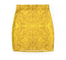 Symmetrical Liquid Gold Pencil Skirt
