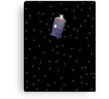 Police Box in Outerspace. Canvas Print