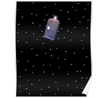 Police Box in Outerspace. Poster