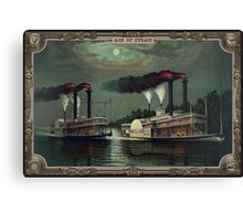 Two Steamboats on the river. Age of Steam #015 Canvas Print