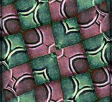 Geometric Diamonds Abstract Pattern by DFLC Prints