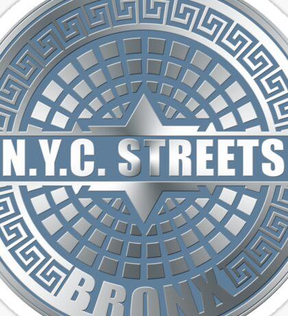 Manhole Covers Bronx Blue Sticker