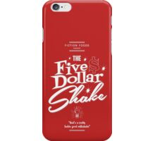 Pulp Fiction - Five Dollar Shake white iPhone Case/Skin