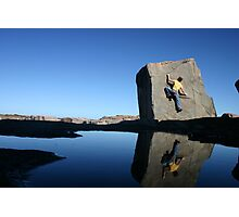 Reflections of a climber in Port Stephens Photographic Print