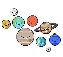 pixel planets by Aidan Wells