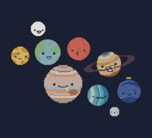 pixel planets Kids Tee