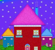 A Whimsical Neighborhood by Mystikka
