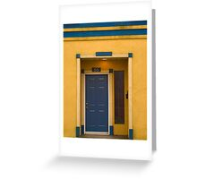 Yellow 55 on blue Greeting Card