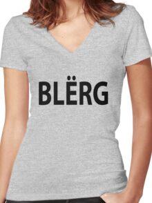 """""""BLERG"""" Liz Lemon. Women's Fitted V-Neck T-Shirt"""