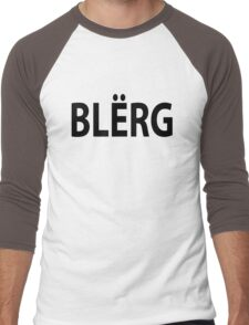 """BLERG"" Liz Lemon. Men's Baseball ¾ T-Shirt"