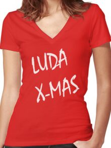 Luda X-Mas, 30 Rock. Women's Fitted V-Neck T-Shirt