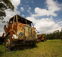 Rusted truck by Tim and Loz .