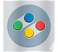 SNES Controller Buttons Poster