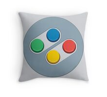SNES Controller Buttons Throw Pillow