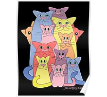 Twelve Cats For Happiness Poster