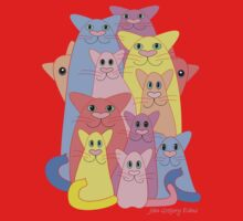Twelve Cats For Happiness Kids Clothes