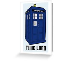 Time Lord, Dr. Who, BBC, Tenth Doctor, Geek, TV Show, Weeping Angels Greeting Card