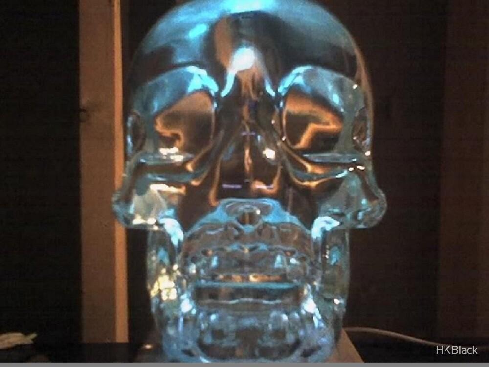 Crystal Blue Skull by HKBlack