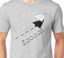 Paper Airplane--Zoooom. Unisex T-Shirt